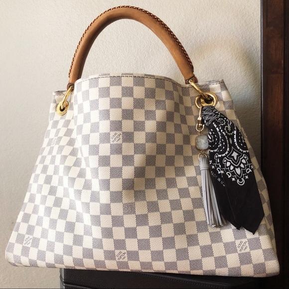 Neiman Marcus Bags Louis Vuitton Artsy Mm Damier Azur Canvas Hobo